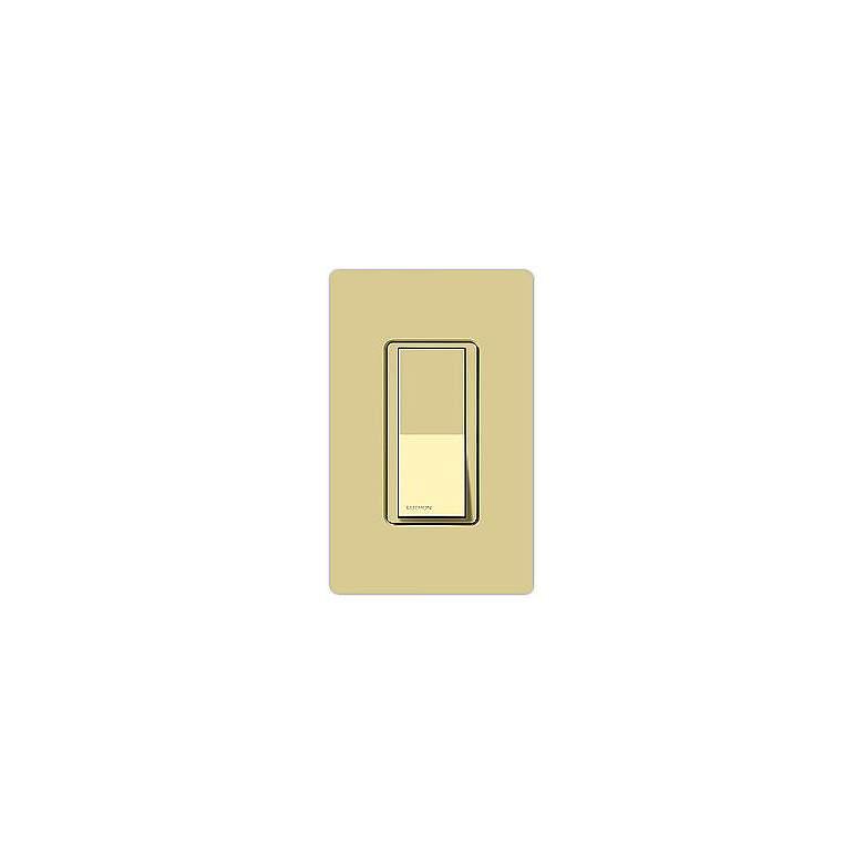 Lutron Claro Ivory Single Pole Switch