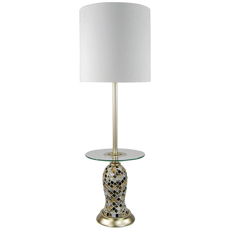 Tivoli Mosaic Glass Tray Console Table Lamp