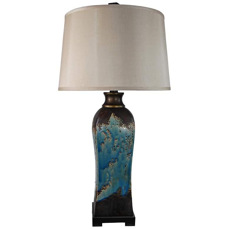Mazara Rust - Azul Ceramic Table Lamp