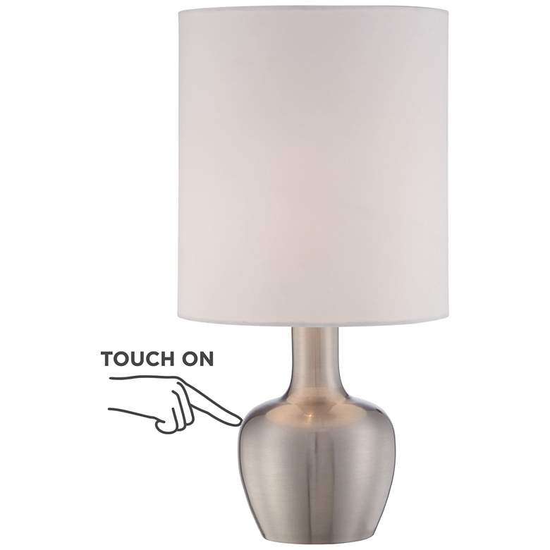 "Betsy Brushed Nickel 15 1/4"" High Touch On-Off Table Lamp"