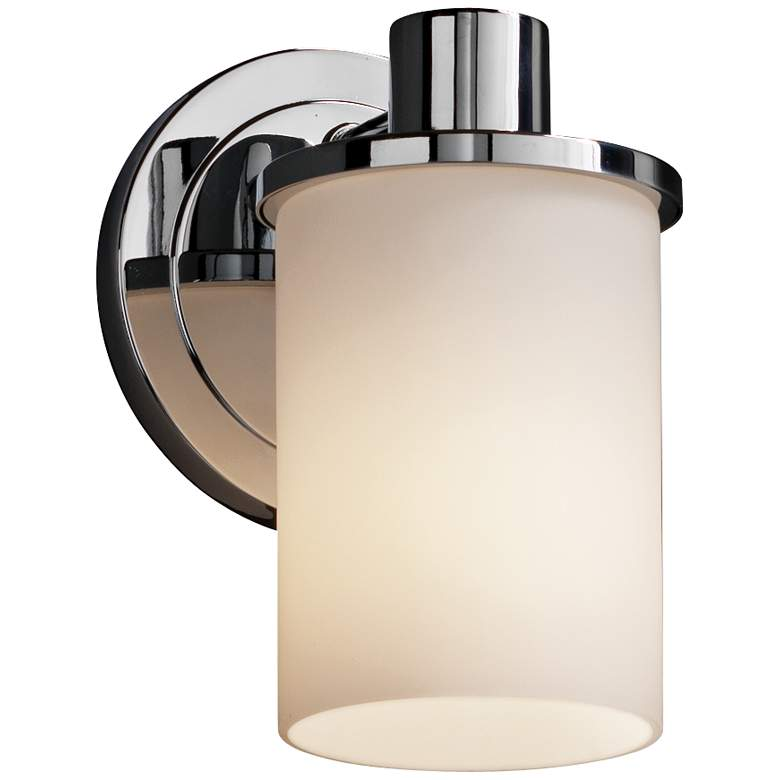 "Justice Design Rondo 7 3/4"" High Chrome Wall Sconce"