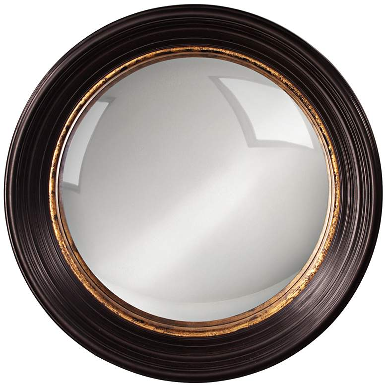 """Howard Elliott Rex 25"""" Round Convex Wall Mirror"""
