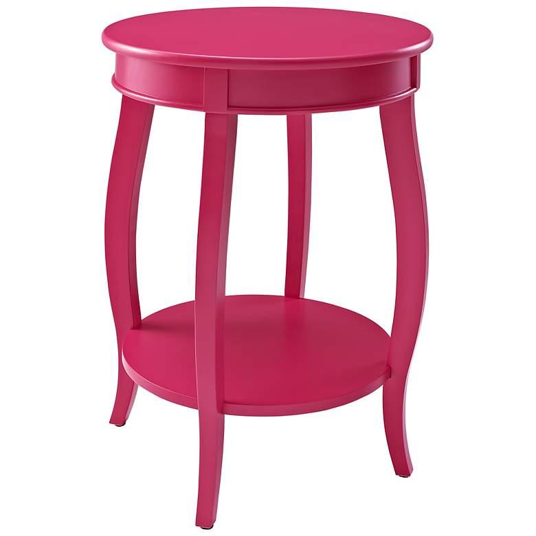 Kraven Round Bubblegum Accent Table