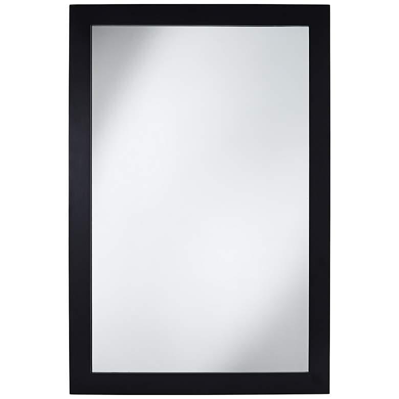 "Granby Black 24"" x 36"" Wood Wall Mirror"