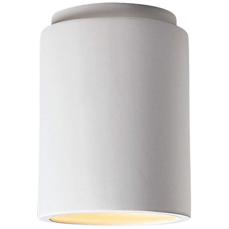 """Justice Design 6 1/2"""" Wide Cylinder Ceramic Ceiling Light"""