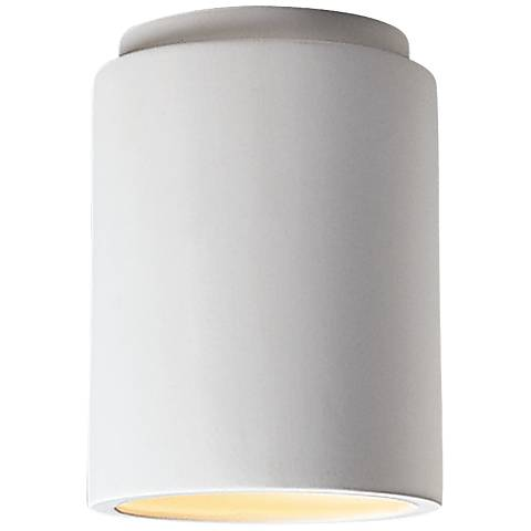 "Justice Design 6 1/2"" Wide Cylinder Ceramic Ceiling Light"