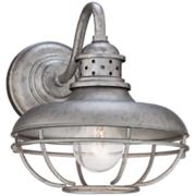 """Franklin Park Cage Collection 9"""" High Outdoor Wall Light"""