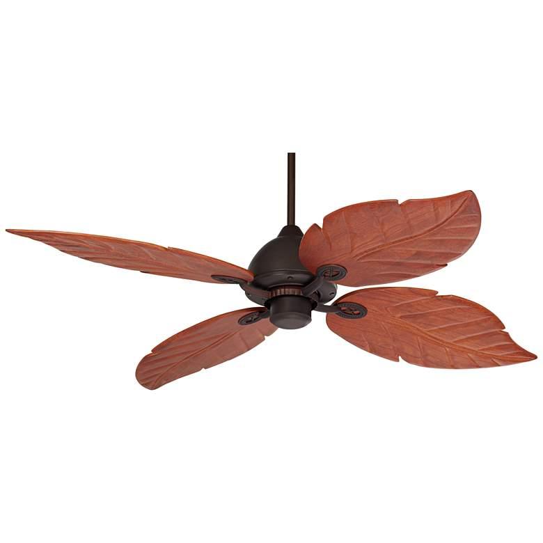 """60"""" Casa Vieja Oak Creek Damp Rated Ceiling Fan"""