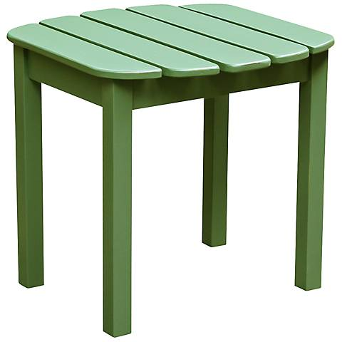 Adirondack Style Moss Green Acacia Wood Outdoor Side Table