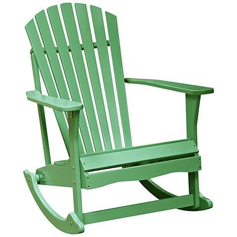 Adirondack Moss Acacia Wood Rocker Chair