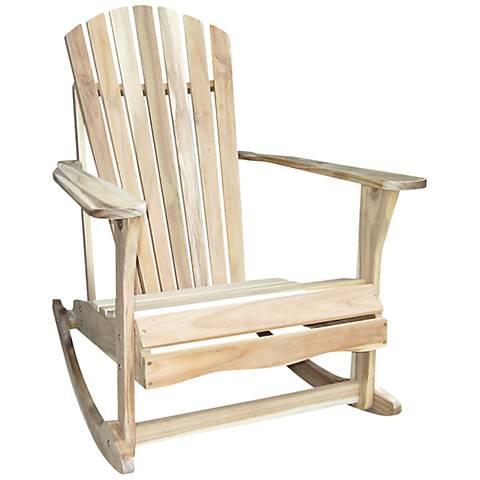 Adirondack Unfinished Acacia Wood Rocker Chair