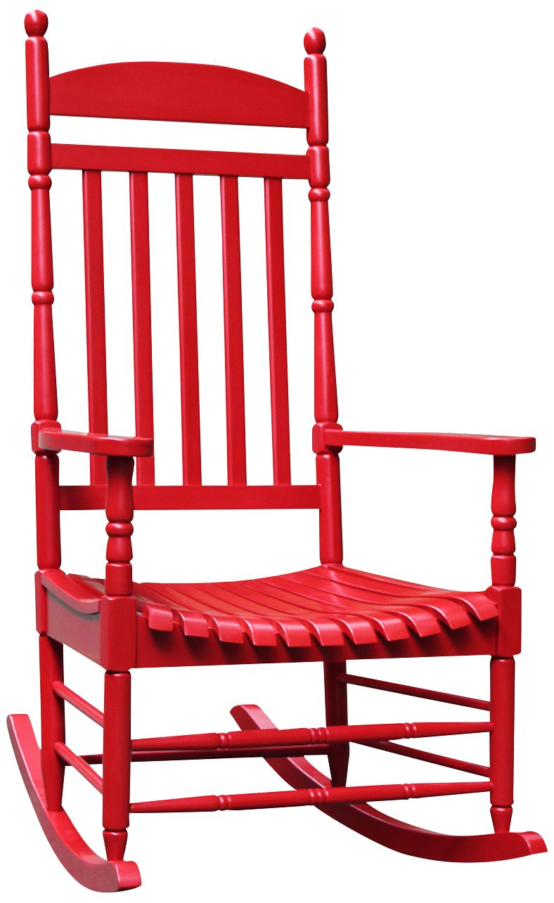 Attrayant Porch Rocker Turned Post Red Outdoor Rocking Chair