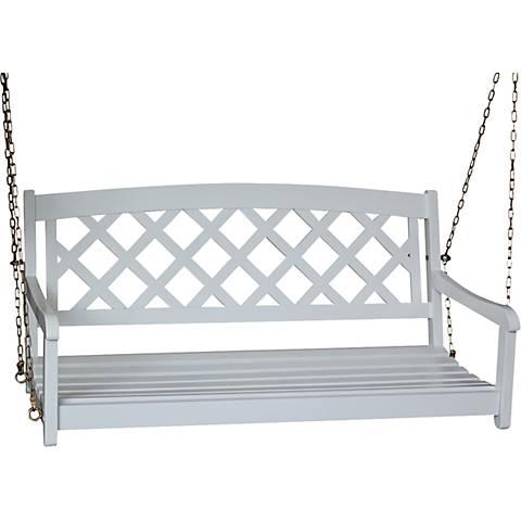 White X-Back Porch Swing