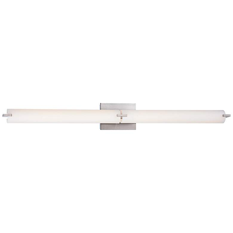 "George Kovacs 39 1/2"" Wide LED Brushed Nickel Bathroom Light"