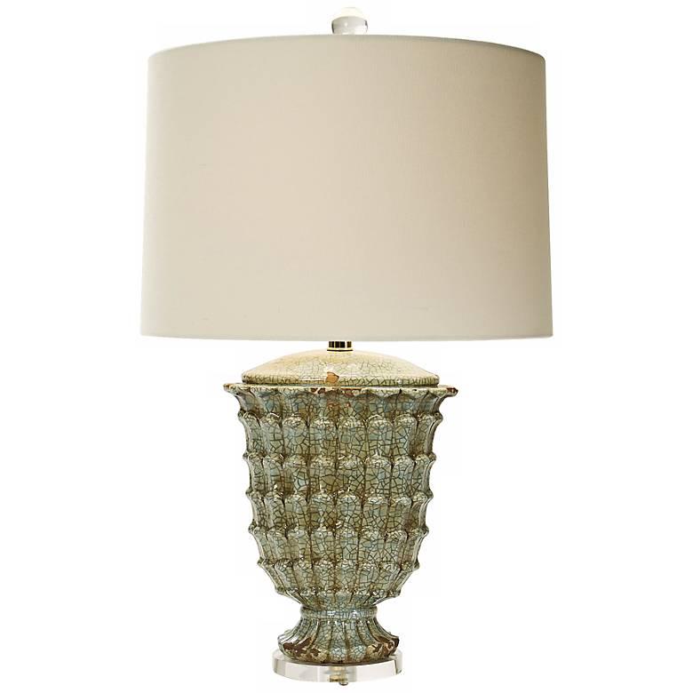 Natural Light Jadette Retreat Ceramic Table Lamp