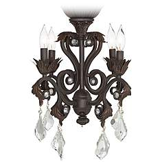 Ceiling fan light kits lamps plus 4 light oil rubbed bronze chandelier ceiling fan light kit aloadofball Images