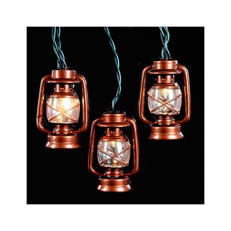 Copper Color Lantern 10-Light  Set