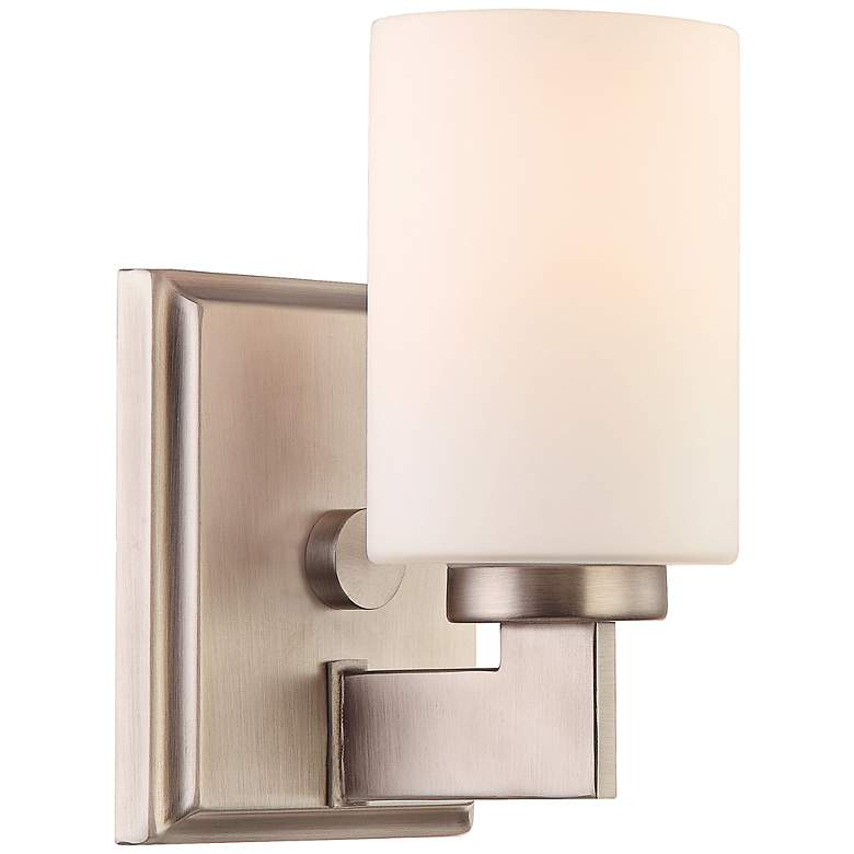 """Quoizel Taylor 8 1/2"""" High Antique Nickel Sconce"""