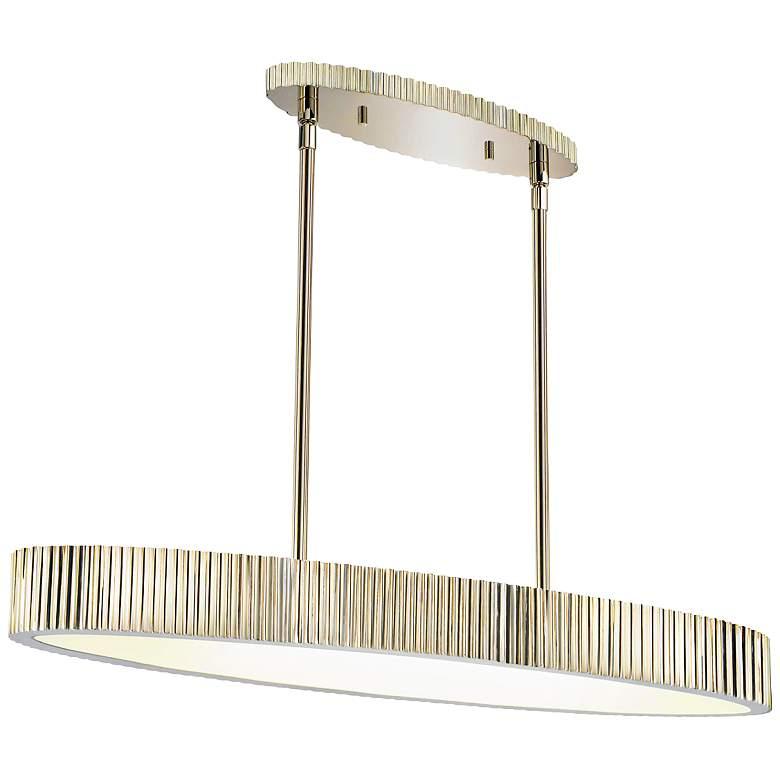 "Sonneman Paramount 36"" Wide Polished Nickel Oval Pendant"