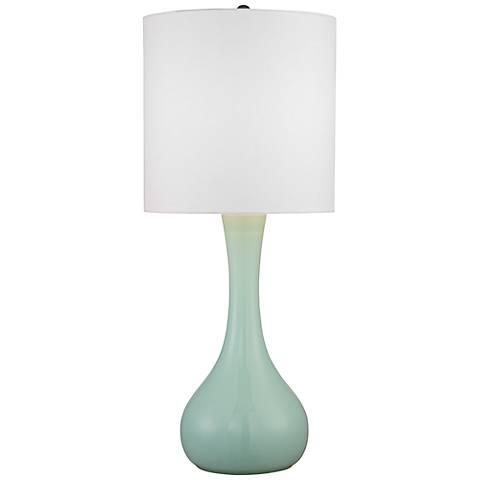 "Grayed Jade 27 3/4"" High Droplet Table Lamp"