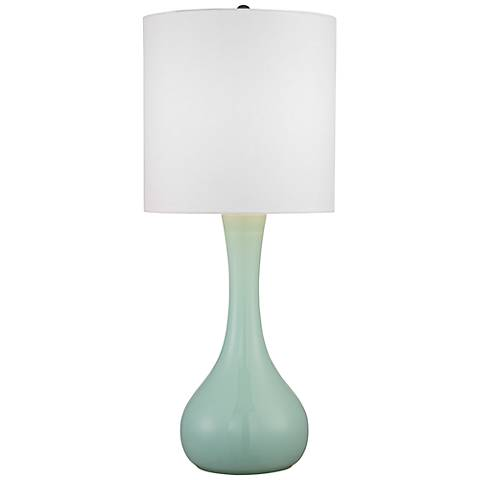 Grayed Jade Glass Table Lamp