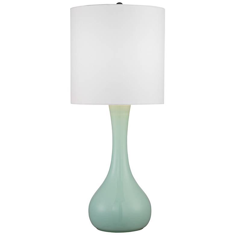 Grayed Jade Glass Table Lamp