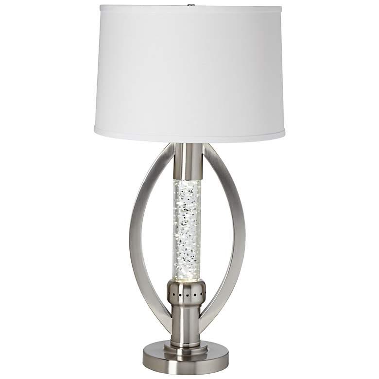 Glitter Glass Circular Table Lamp
