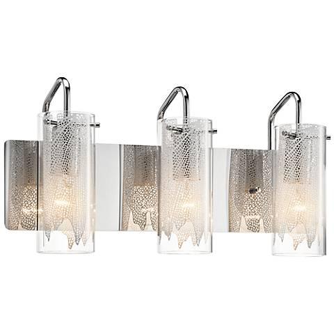 Elan krysalis 19 34 wide chrome bathroom light 4h498 lamps plus elan krysalis 19 34 wide chrome bathroom light mozeypictures Images
