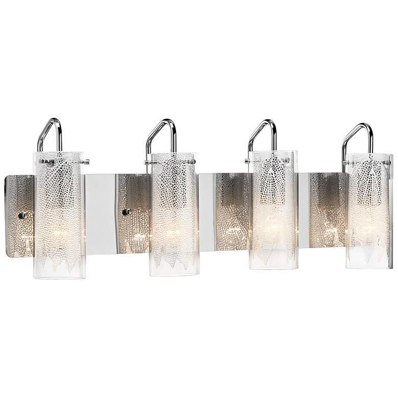 "Elan Krysalis 27"" Wide Chrome Bathroom Light"