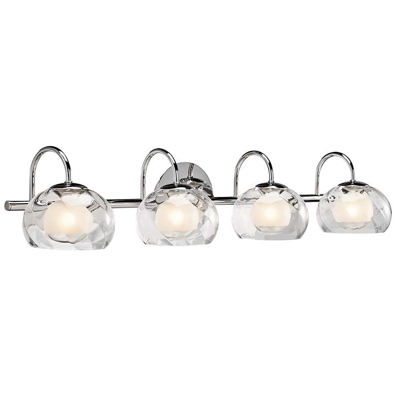 "Elan Niu 31 1/2"" Wide Optic Glass Chrome Bath Light"
