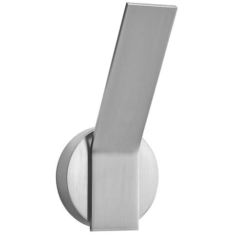 "Elan Follen Brushed Aluminum 9 3/4"" High LED Wall Sconce"