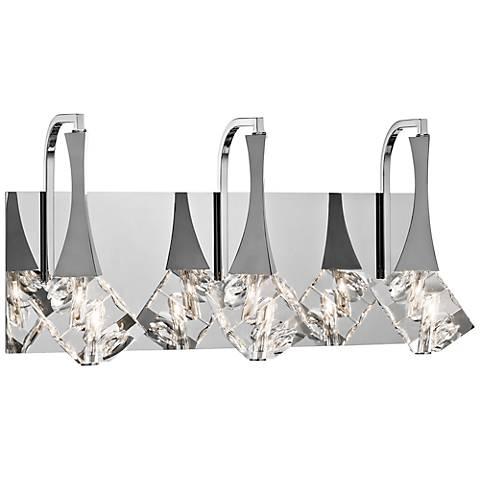 "Elan Rockne 17 3/4"" Wide Chrome Bathroom Light"