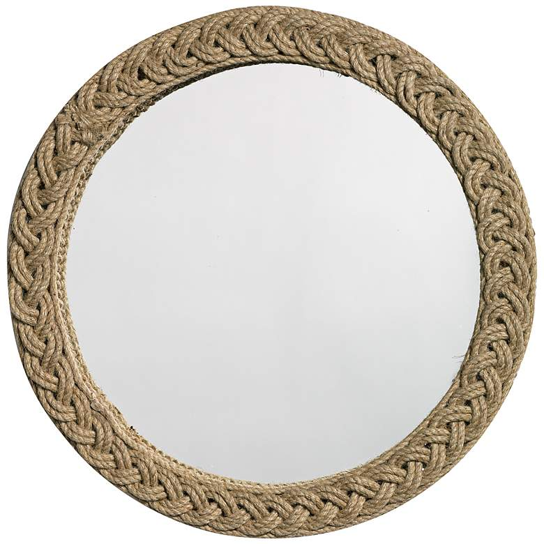 "Jamie Young Jute Braided 20"" Round Wall Mirror"