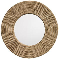 "Jamie Young Jute Large 24"" Round Wall Mirror"