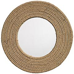 "Jamie Young Natural Jute 24"" Round Wall Mirror"