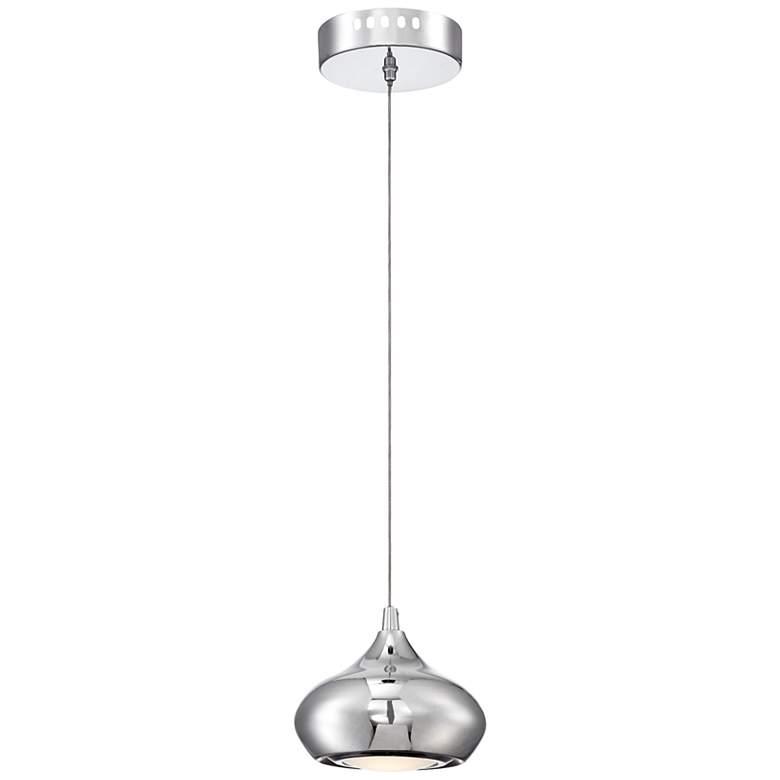 """Silver Isles 6"""" Wide Chrome LED Mini Pendant Light"""