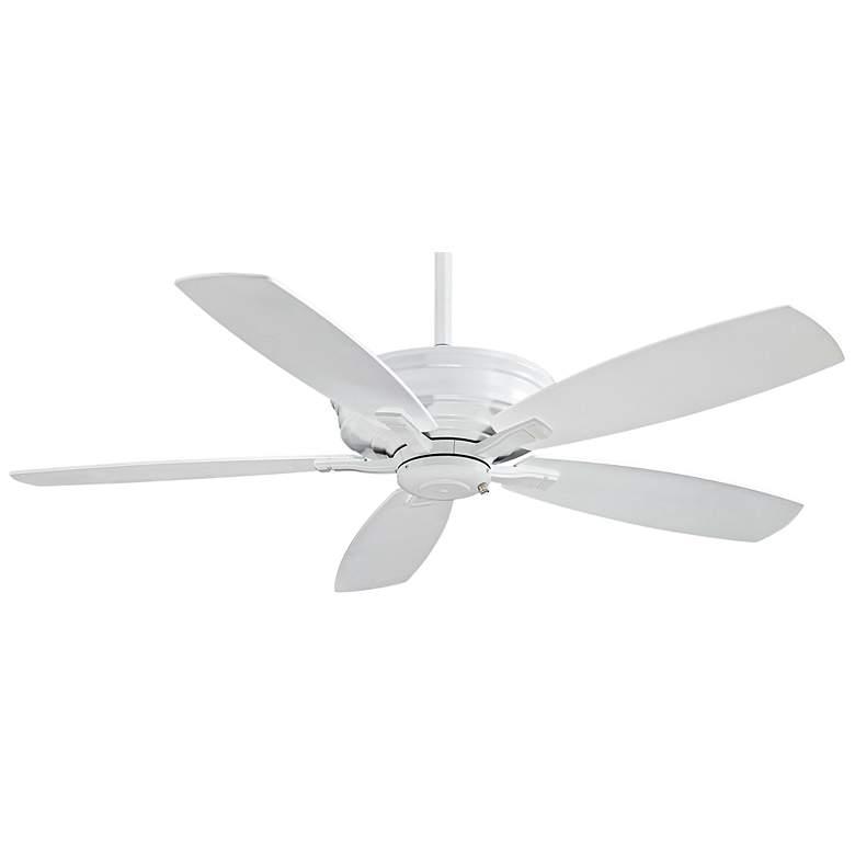 "52"" Minka Aire Kafe White Ceiling Fan"