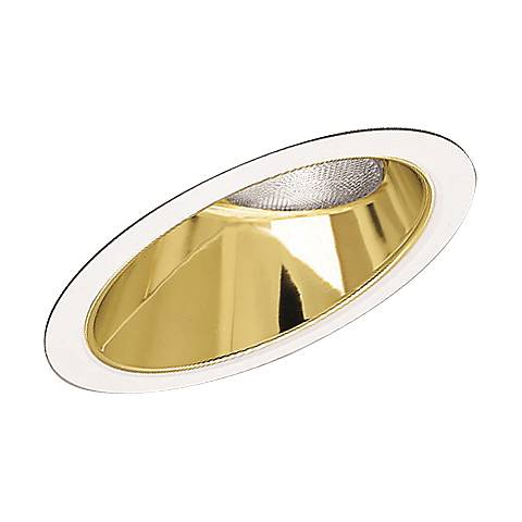 Progress Gold Alzak Sloped Recessed Baffle Trim
