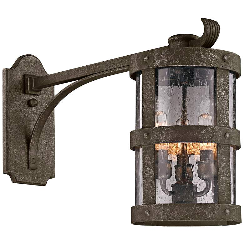 "Barbosa 15"" High Long-Arm Bronze Outdoor Wall Light"