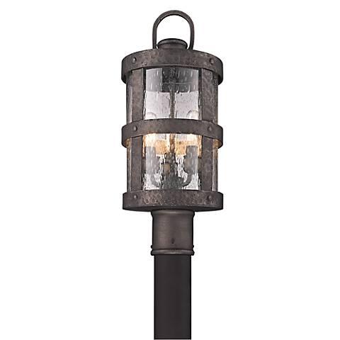 """Barbosa 19 1/4"""" High Bronze Outdoor Post Light"""