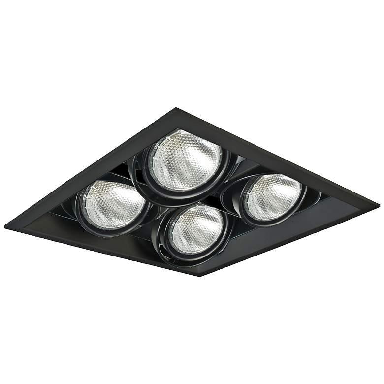 Eurofase Black Square Quad Par 20 Recessed Light