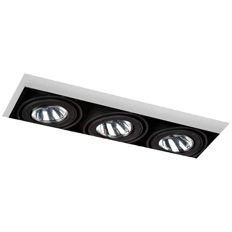 Eurofase Low Voltage Black Triple Recessed Light