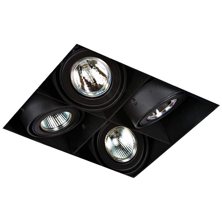 Eurofase Low Voltage Black Quad Recessed Light