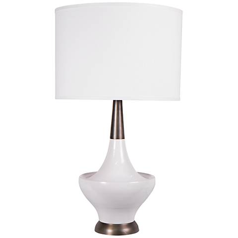 Jamie Young Hialeah White Cast Metal Table Lamp