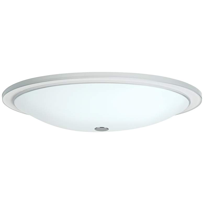 "Besa Manta 18"" Wide Opal Glass Ceiling Light"
