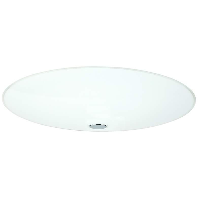 "Besa Renfro 16"" Wide Opal Glass Ceiling Light"