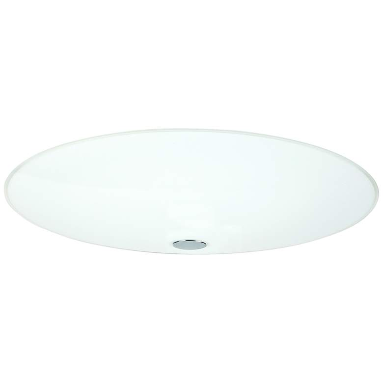 "Besa Renfro 16"" Wide Opal Glass Ceiling Light"