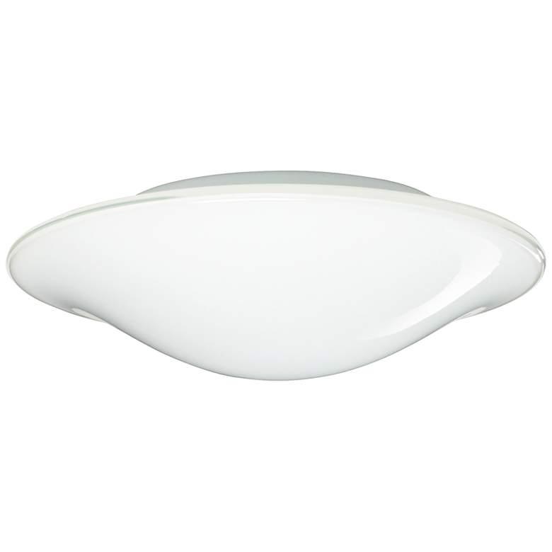 "Besa Luma 12"" Wide Slim Opal Glass Ceiling Light"