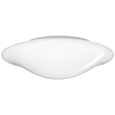 "Besa Luma 12"" Wide Slim Opal Glass Ceiling Light"