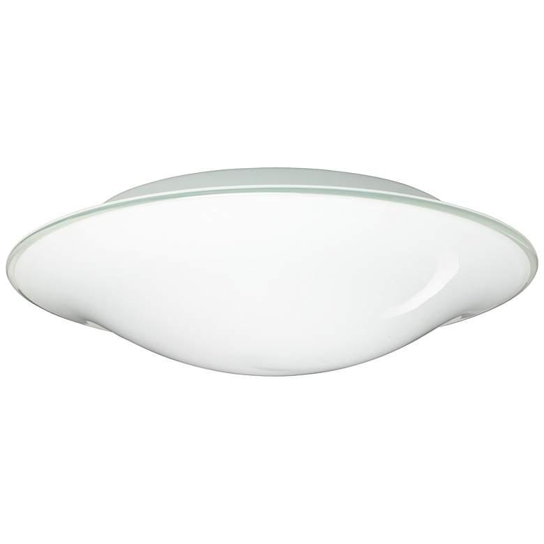 "Besa Luma 18"" Wide Slim Opal Glass Ceiling Light"
